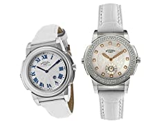 Rotary Women's Evolution White Leather Watch