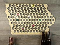 Beer Cap Map: Iowa