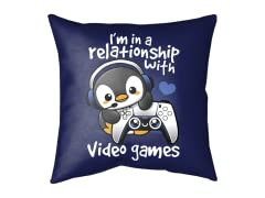 In a Relationship Medium Floor Pillow