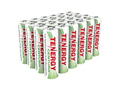 Tenergy AA Rechargeable Battery 24 Pack