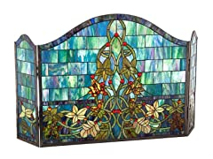 Floral and Vine Fireplace Screen