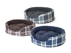 Snuggle Plaid Oval- 4 Sizes, 3 Colors