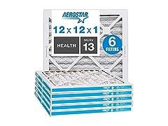 AC Furnace Air Filter, 6 Pack