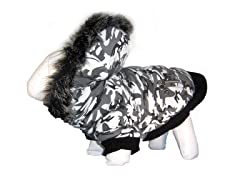 Deer Pattern Fashion Parka with Hood