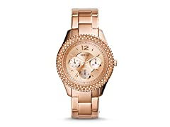 Fossil ES3590P Rose-Tone Stainless Steel Watch