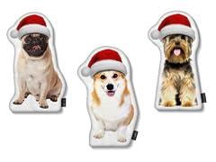 LILIPI Brand Santa Hat Dog Shaped Pillow