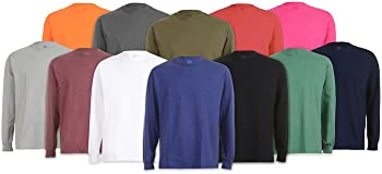 6-Pack Fruit of the Loom Men's Long Sleeve Tees