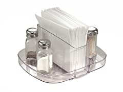 InterDesign Clear Linus Napkin Spinner