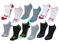 Everlast Women's No Show Socks, 12 Pairs