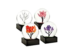 CoolSnowGlobes Four Seasons Set of Four