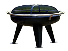 Urban 650 Fire Pit, Black/Steel