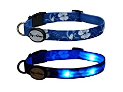 Dog-e-Glow Blue Hawaii LED Lighted Collar-Large