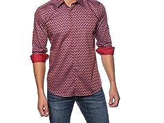 Jared Lang Dress Shirt, Red/Blue