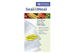 Seal-a-Meal Vacuum Sealer 16 Count Quart Bags