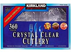 Kirkland Signature Crystal Clear Cutlery 360 Count