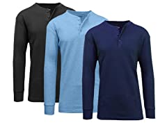 Waffle-Knit Thermal Henley 3-Pack