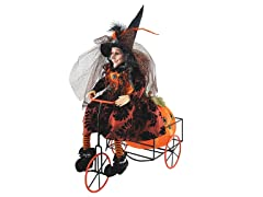 Santa's Workshop 16 Inch Witch on Trike