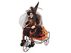 Santa's Workshop 16 Inch Witch on Trike