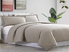 Amrapur Overseas Ultra-Plush Solid Duvet Set