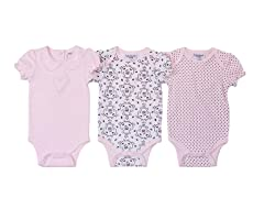 Pink Little Princess Bodysuit 3Pk (0-9M)