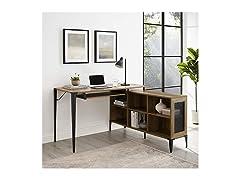 Urban Industrial Multi Level L Shaped Desk
