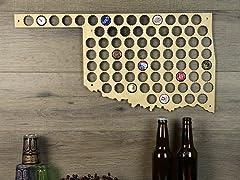 Beer Cap Map: Oklahoma