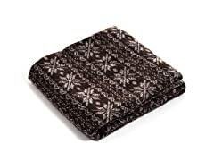 Jacquard Blanket Throw - Brown