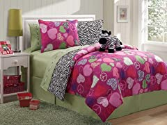 Reversible Bedding Set (Twin or Full)-Zebra