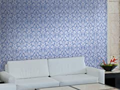 Floral Diamond Damask Tiles