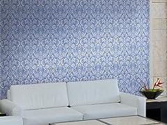 Floral Diamond Damask Tiles