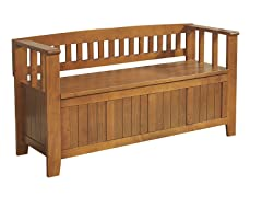 Acadian Light Avalon Brown Entry Bench