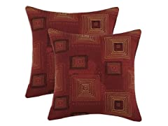 Rena Cinnabar 17x17 Pillows-S/2