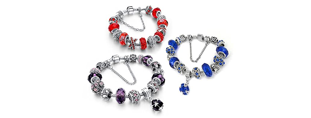 Murano Bead and Crystal Bracelets