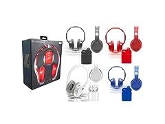 Zunammy Wireless Over-Ear Bluetooth Headphones and Earbud Set