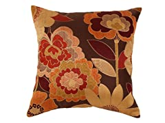 Acadia Autumn Floral 18-inch Pillow