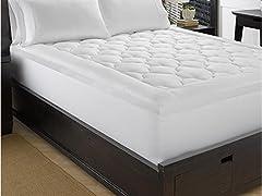 Lofty 100% Cotton Plush Gel Fiber Filled Mattress Topper