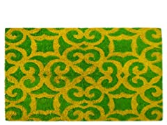 Coir Mat Fiona Turquoise/Yellow