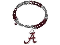 NCAA Crystal Memory Wire Bracelet