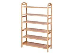 SONGMICS Bamboo Wood Shoe Rack