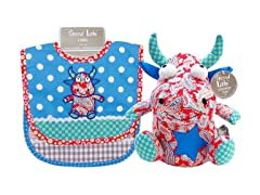 Mommy's Little Monster Bib and Buddy Set