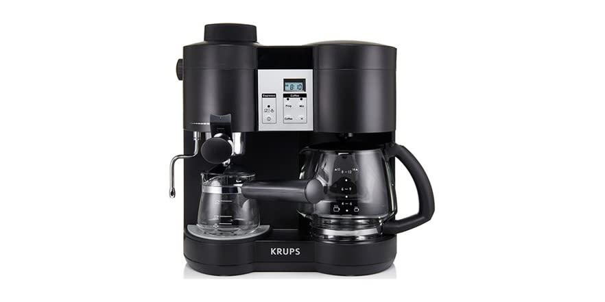 krups 10 cup coffee espresso combo machine. Black Bedroom Furniture Sets. Home Design Ideas