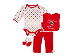 4Pc Bodysuit Set -Small Packages (0-12M)
