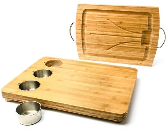 Core bamboo cutting board w prep bowls - Cutting board with prep bowls ...