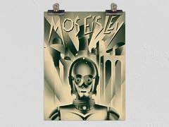 """""""Droidopolis"""" Matte Poster"""