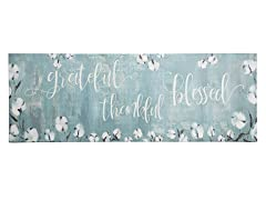 Grateful Thankful Bless Runner Mat