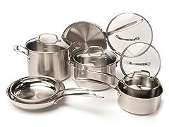 Cuisinart 12-Piece SS Cookware Set