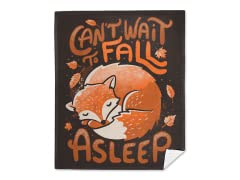 """Can't Wait to Fall Asleep"" Mink Blanket"