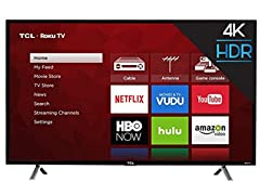 TCL 49in 4K UHD Smart Roku TV