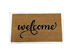 Printed Coir Welcome Mat, Welcome