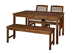 Acacia Simple 4-Piece Patio Dining Set